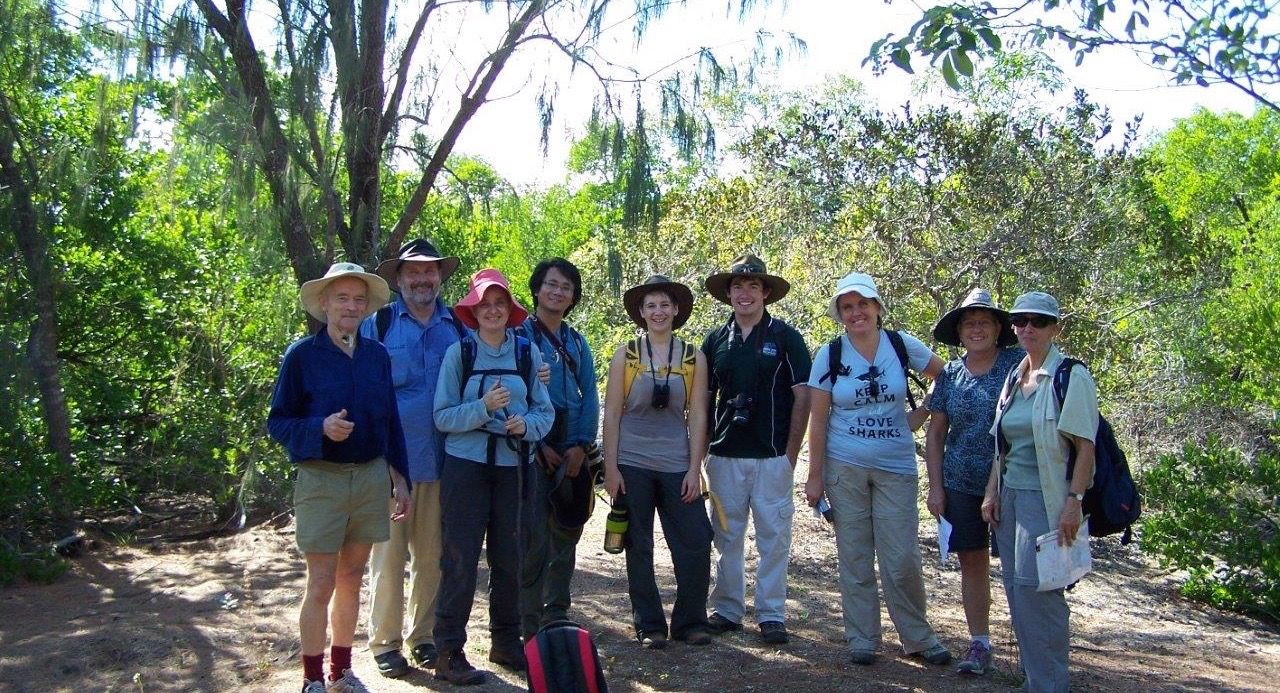 Branch members enjoy a walk in the Cape Pallarenda conservation park. Photo courtesy of  Laurie Hall & Malcolm Tattersall.