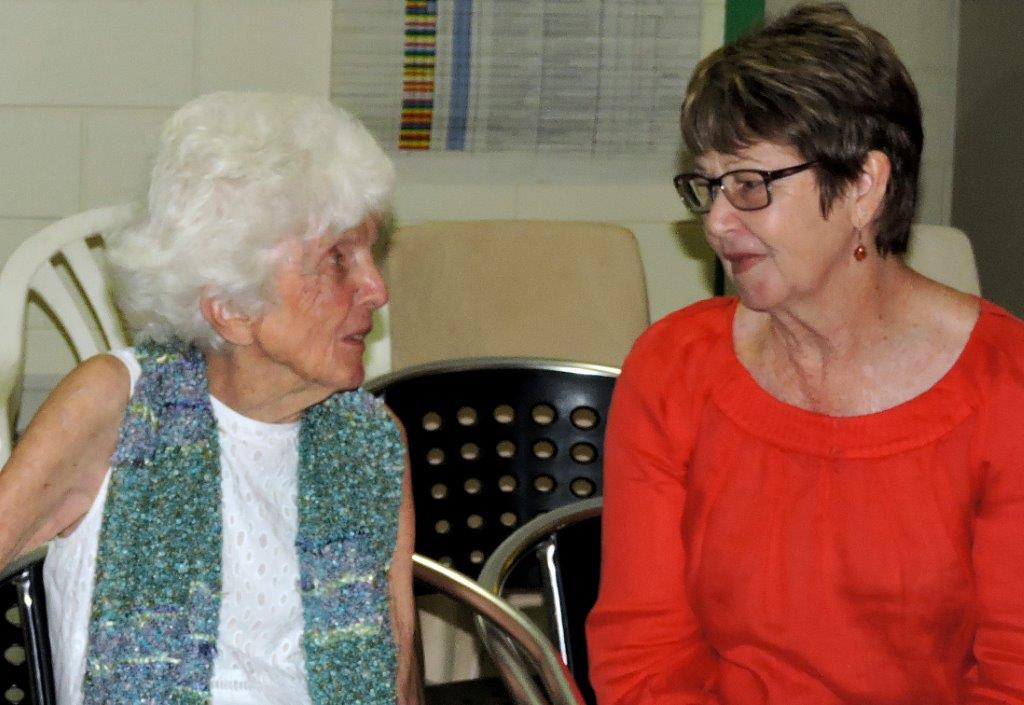 Margaret Thorsborne and Wendy Green at the launch.