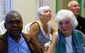Margaret with Claude Beeron, and veteran counters Denise and John behind.