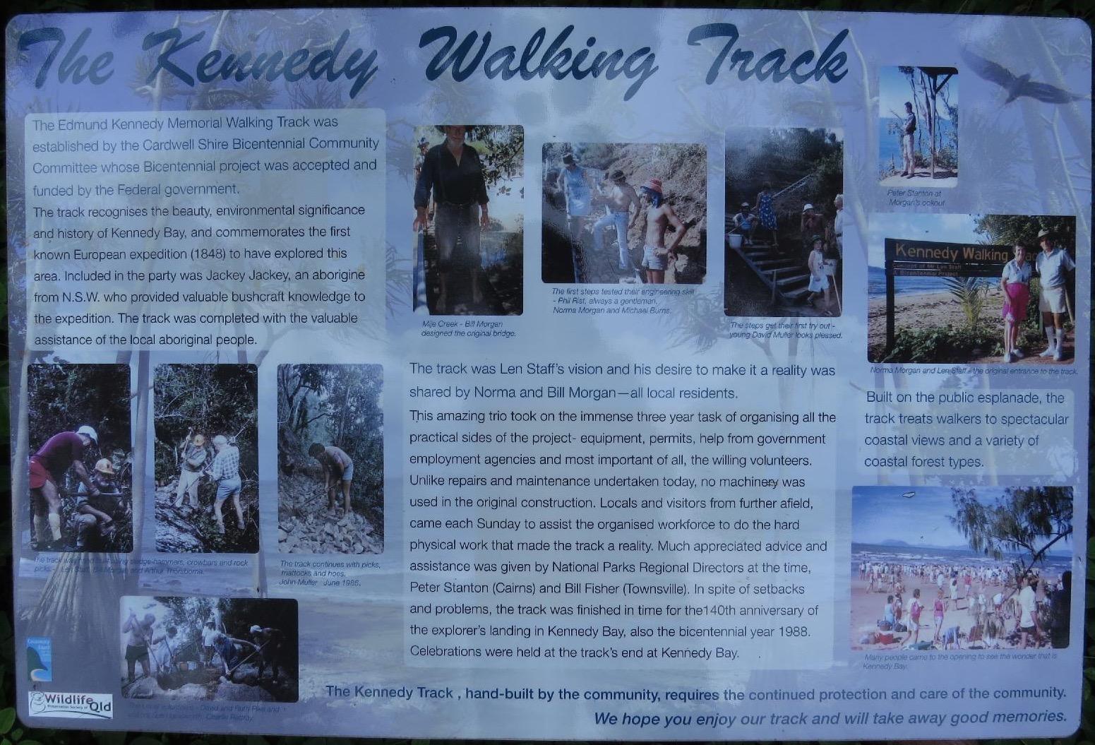 History of the track - click to make text readable. Photo Julia Hazel.