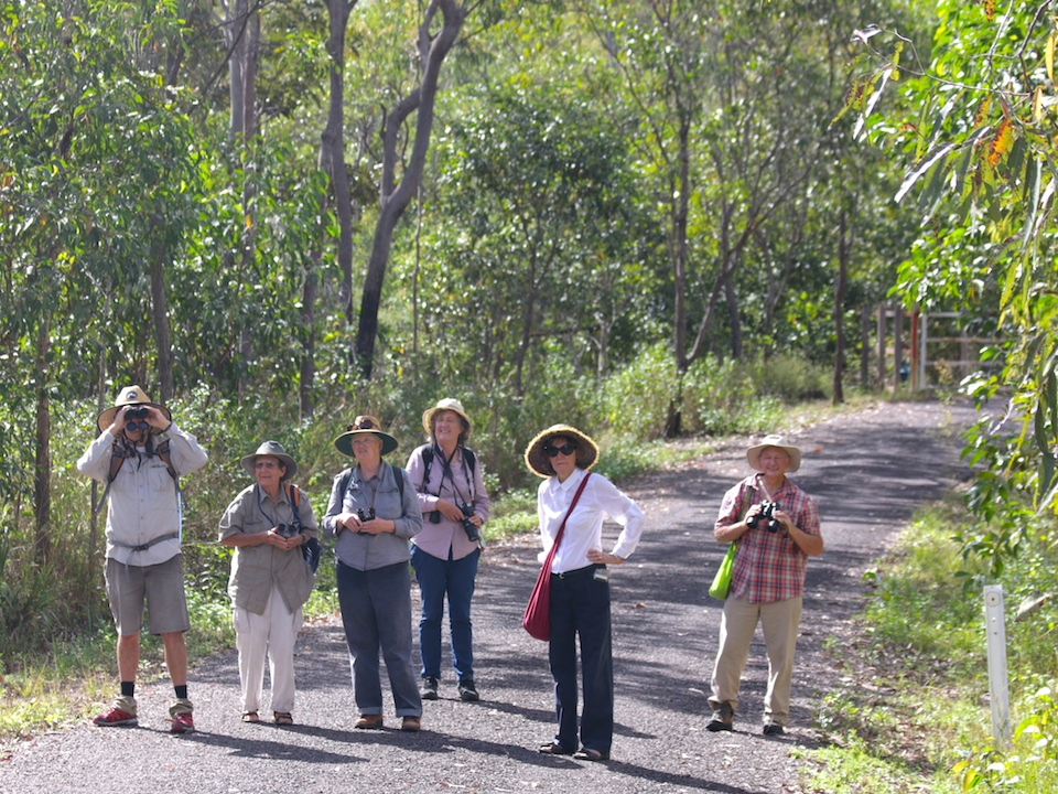 Birdwatchers at the ready along the Big Crystal Creek road. Photo Malcolm Tattersall.