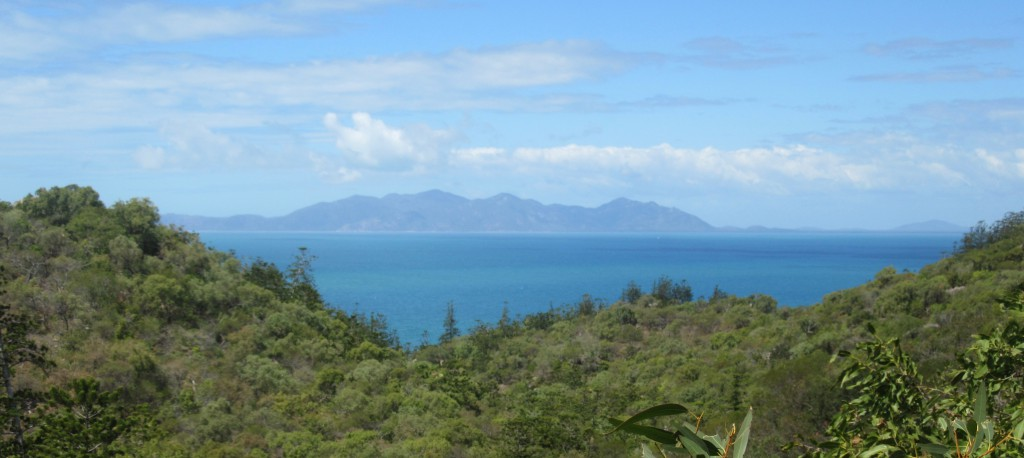 View across the bay from Magnetic Island to Cape Cleveland
